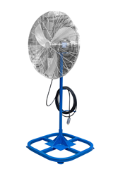 "Pedestal mounted 30"" Explosion Proof Fan with 100' Cord and Explosion Proof Cord Cap"