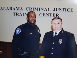 Kenneth Johnson (left) with University of South Alabama Police Chief Zeke Aull