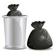 D-Liner addresses both of these issues with a plastic cylinder that goes around the edge of the garbage bag.