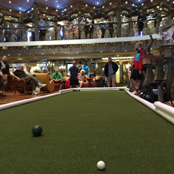 Bocce on board the Carnival Glory
