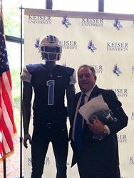 Dr-Arthur-Keiser-with-Keiser-University-Seahawk-Football-Uniform