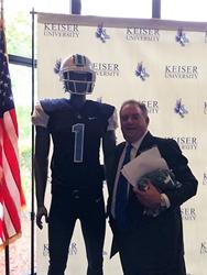 Dr-Arthur-Keiser-with-Keiser-University-Seahawk-Football-Uniform