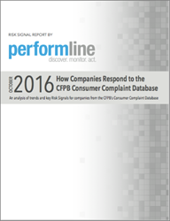 PerformLine Report: Risk Signals from the CFPB's Consumer Complaint Database