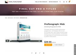FCPX - ProParagraph Web - Pixel Film Studios Plugin