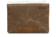 Maxwell Laptop Sleeve—tan waxed canvas