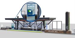 Scheidt & Bachmann TVM at GRTC Bus Rapid Transit station