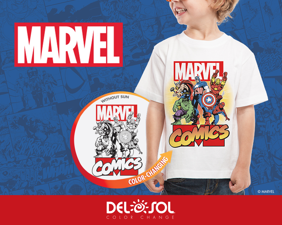 Color Changing Shirts >> Del Sol Introduces Collection of Marvel T-Shirt Designs ...