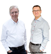 Hans Hertz and Oscar Hemberg, two of the founders of Excillum and the inventors of the MetalJet technology.