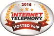 CallTower Awarded a 2016 INTERNET TELEPHONY Hosted VoIP Excellence Award