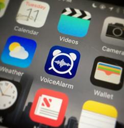 NeoSpeech's VoiceAlarm app uses text-to-speech to talk