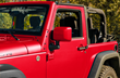 Jeep Wrangler JK - ColorPro Mirror Cap - Fire Cracker Red
