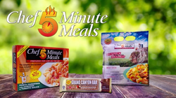 Some of the great meal products Chef Minute Meals offers