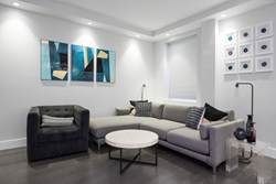The remodeled living area at West 87th Street in New York City.