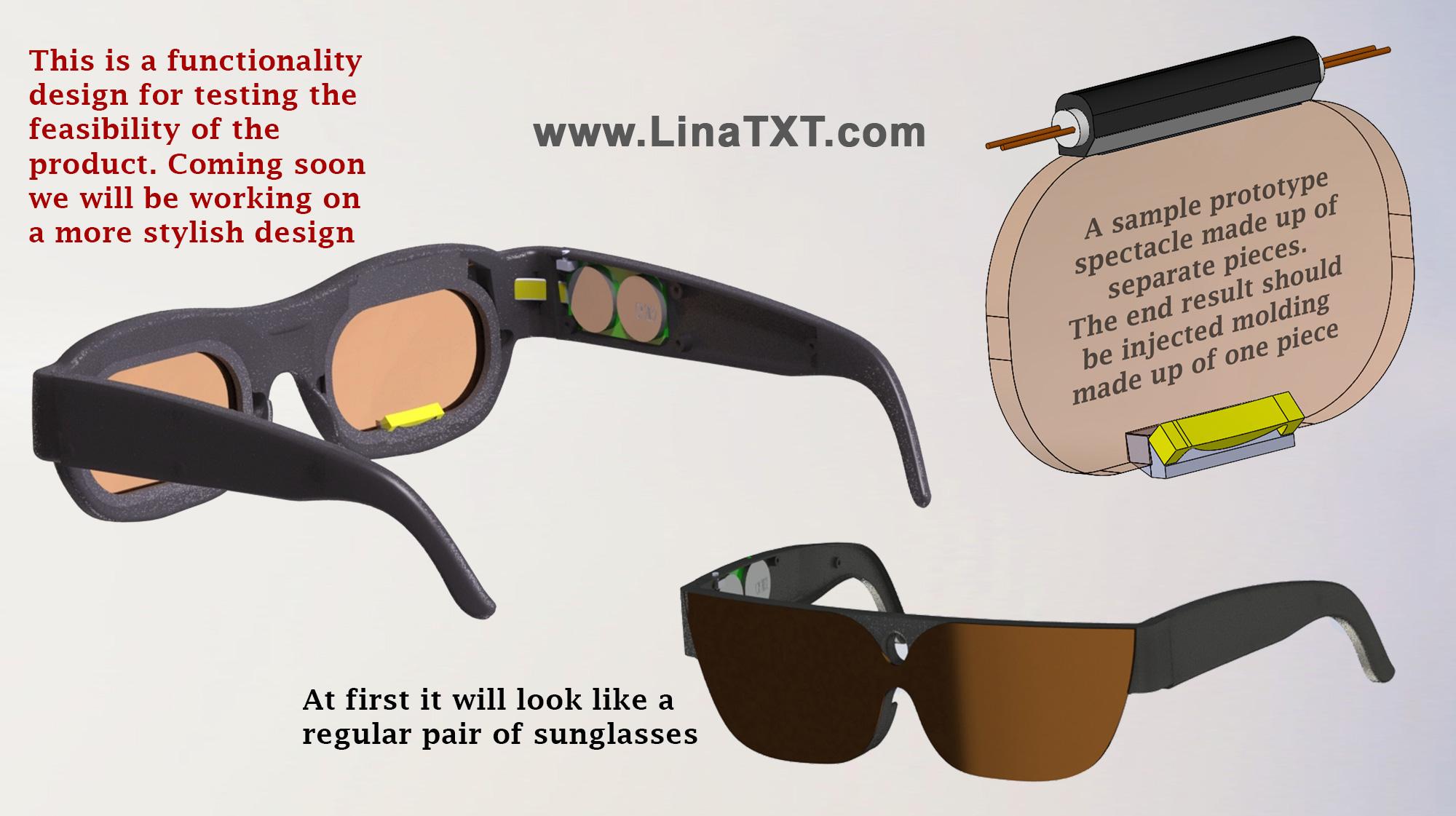 New Smart Glasses Wearable Technology Lenses Prototype ...