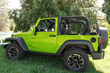 Jeep Wrangler JK - ColorPro Mirror Cap - Hyper Green