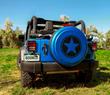 Freedom Star Rigid Tire Cover - Boomerang - Jeep Wrangler JK - Hydro Blue