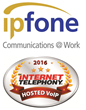 IPFone Awarded a 2016 INTERNET TELEPHONY Hosted VoIP Excellence Award