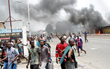 Riots on the streets of Kinshasa, Congo