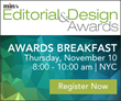 min to Honor Top Editors and Designers at Awards Breakfast on November 10