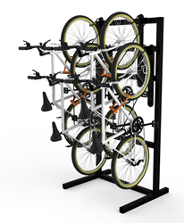 DoubleUp vertical bike rack single sided
