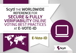 Scyl online voting security and full verifiability at EVOTEID