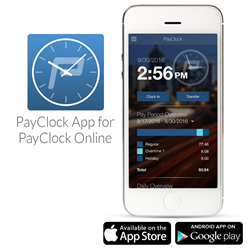 PayClock Online mobile app