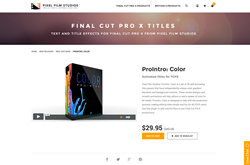 FCPX Plugin - ProIntro Color - Pixel Film Studios