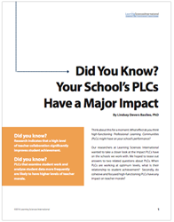 Did You Know? Your School's PLCs Have a Major Impact