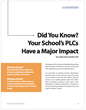 Report: Learning Sciences International Explores Relationship Between PLC Practices, Teacher Morale, and Student Performance