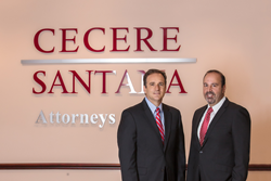 Attorneys Michael Cecere and Erick Santana