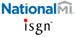 Logos of National MI and ISGN Corporation