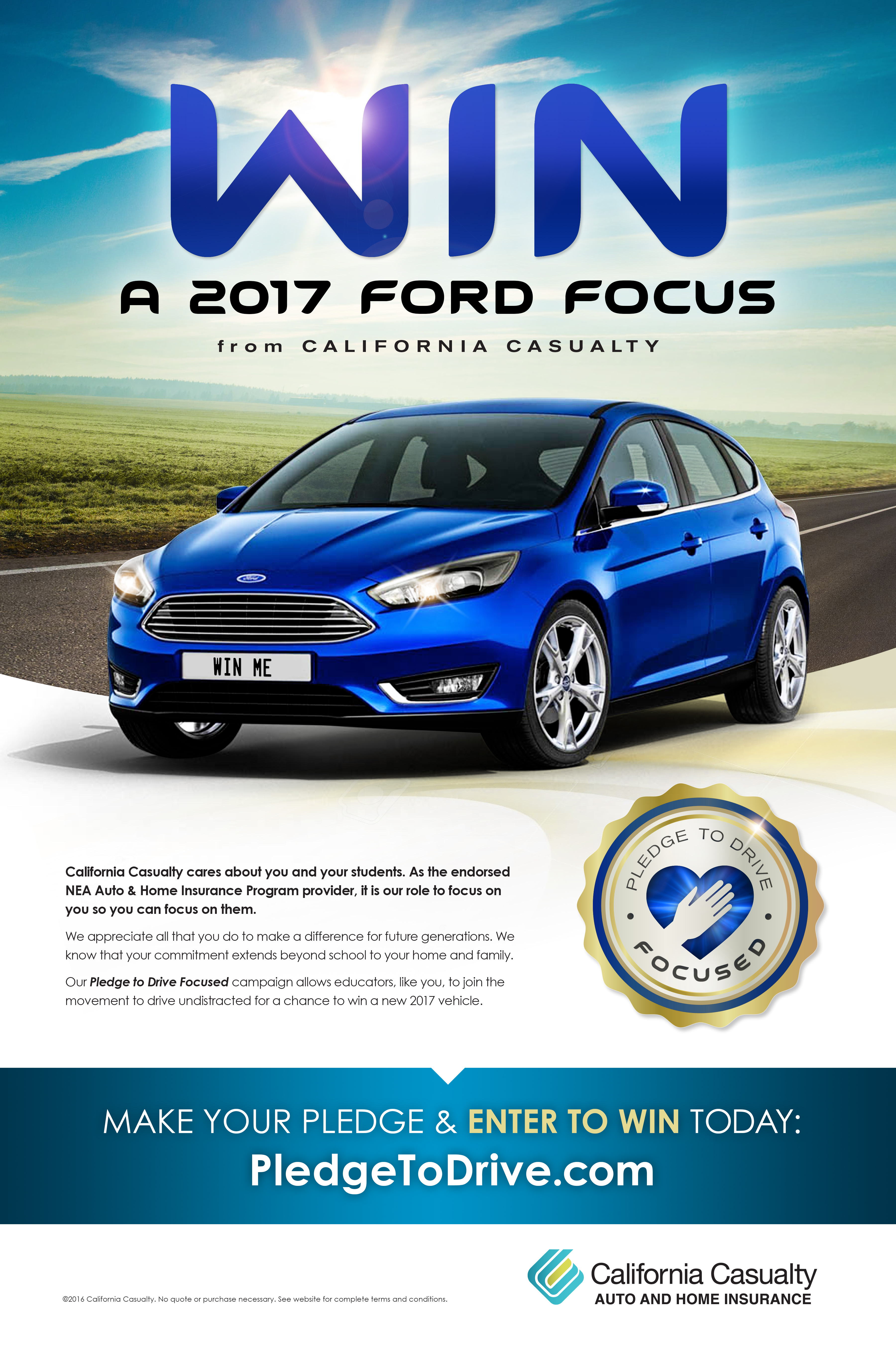 Stay Focused: Win a Car from California Casualty