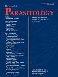 The Journal of Parsitology Cover