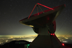 Large Millimeter Telescope on the summit of Sierra Negra, an extinct volcano in Mexico. Credit James Lowenthal