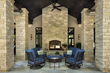 Back view of home in Lenexa, Kansas featuring thin veneer from Indiana Limestone Company.