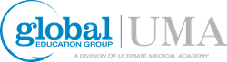 Global Education Group Logo, A Division of Ultimate Medical Academy
