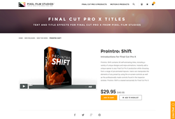 FCPX Plugin - ProIntro Shift - Pixel Film Studios