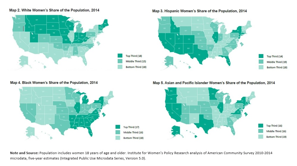 Pacific West Region Has The Most Broadly Diverse Population Of Women In The United States