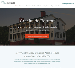 Creekside Retreat in Tennessee New Website
