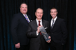 "President Porter ""Buddy"" Ozanne (middle) and Vice President Christopher Sorrow (right) accept Be Greater Award from Rick Folk, Senior Vice President, Regional Managing Director, Fidelity Investments"
