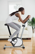 It is a stationary exercise bike with automatic pedals to help people move.