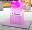 Floating Clickable Product Cube Inside Virtual Booths and Host Homes