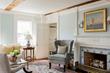 historic renovation, historic living room, Delft tiles around fireplace, Delft tiles, historic renovation, interior design, Boston Interior designers, North shore interior designers