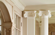 classic columns with capitals, architectural millwork, architectural detailing, columns, doric columns, capitals