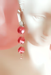 Hot Rose Rivoli earrings