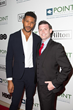 Jeffrey Bowyer Chapman on the Red Carpet with Dr. James Mercer at the Point Foundation's Point Honors Los Angeles Gala