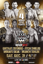 World Series of Fighting Announces Colossal Eleven-Bout Fight Card  for WSOFNYC New Years Eve Extravaganza