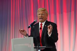 Actor impersonator John Di Domenico has fun portraying Donald Trump