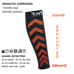 exous bodygear calf compression sleeves
