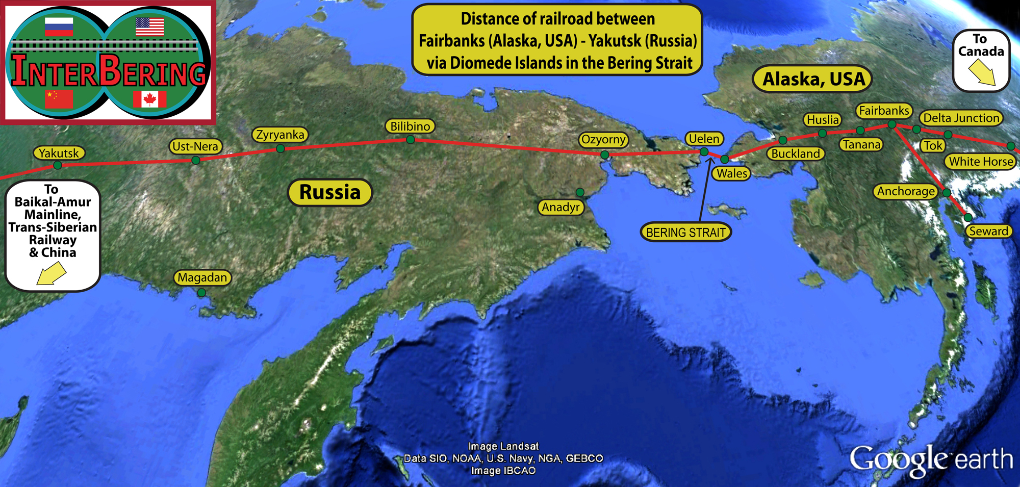 Russia Suggests To US And Europe To Use Transport Corridor Via Her - Us google rail map